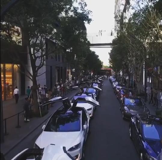 شیرین کاری با خودروهای تسلا (فیلم)