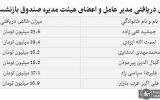 میزان دریافتی اعضای هیات مدیر صندوق بازنشستگی کشور  در سال ۹۷