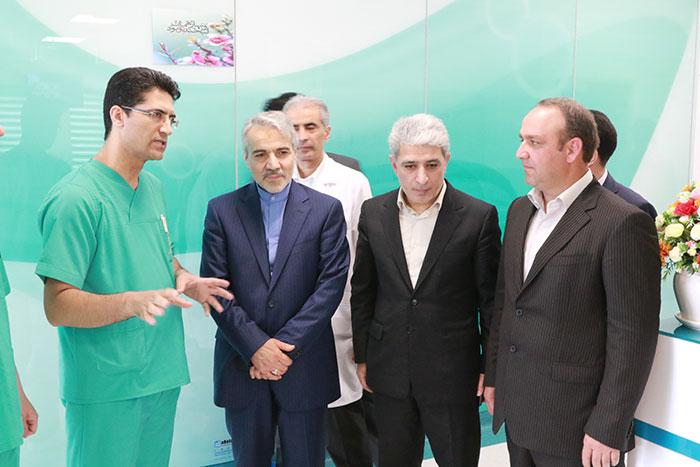 بازدید سخنگوی دولت از بیمارستان بانک ملی ایران