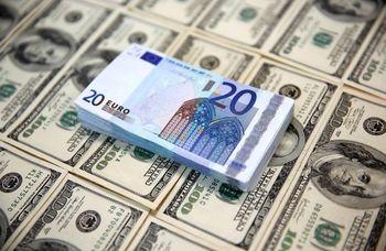 دلار ۴۲۱۳۵ ریال شد؛ یورو پایین آمد +جدول نرخ ارز