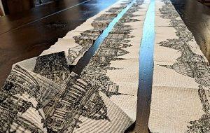 هنرنمایی به سبک کرونایی با ۱۱ متر دستمال توالت (+عکس)